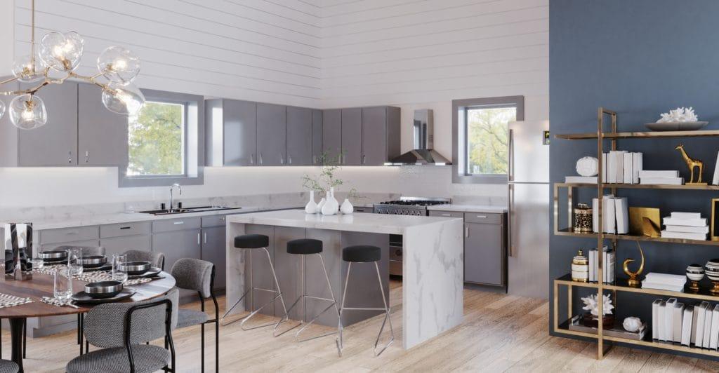 Maple ridge contemporary home, open concept