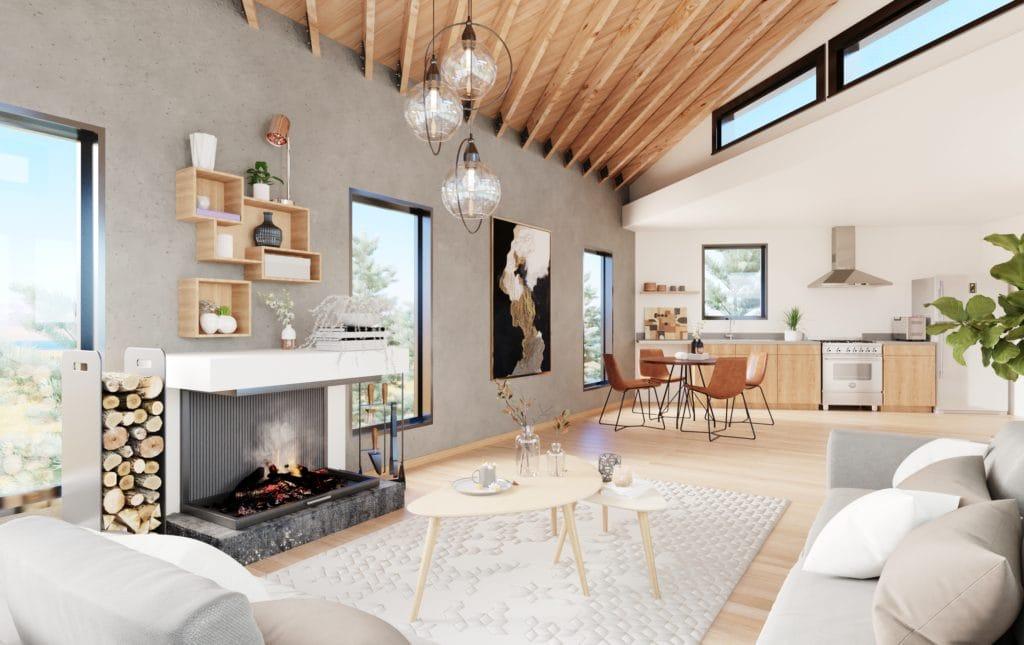 Sunshine coast interior, open concept