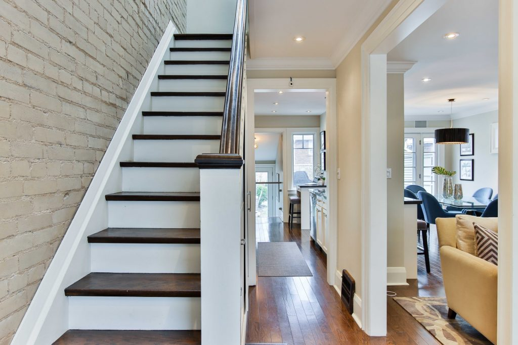 Straight Stairs in a House
