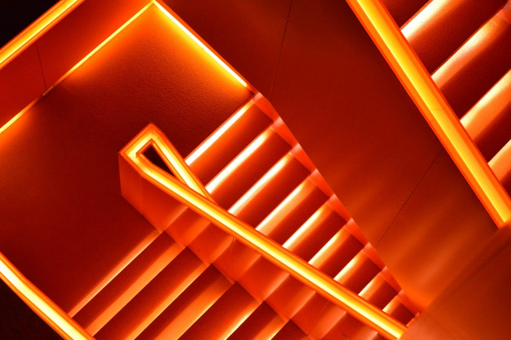 Orange LED Stairscase