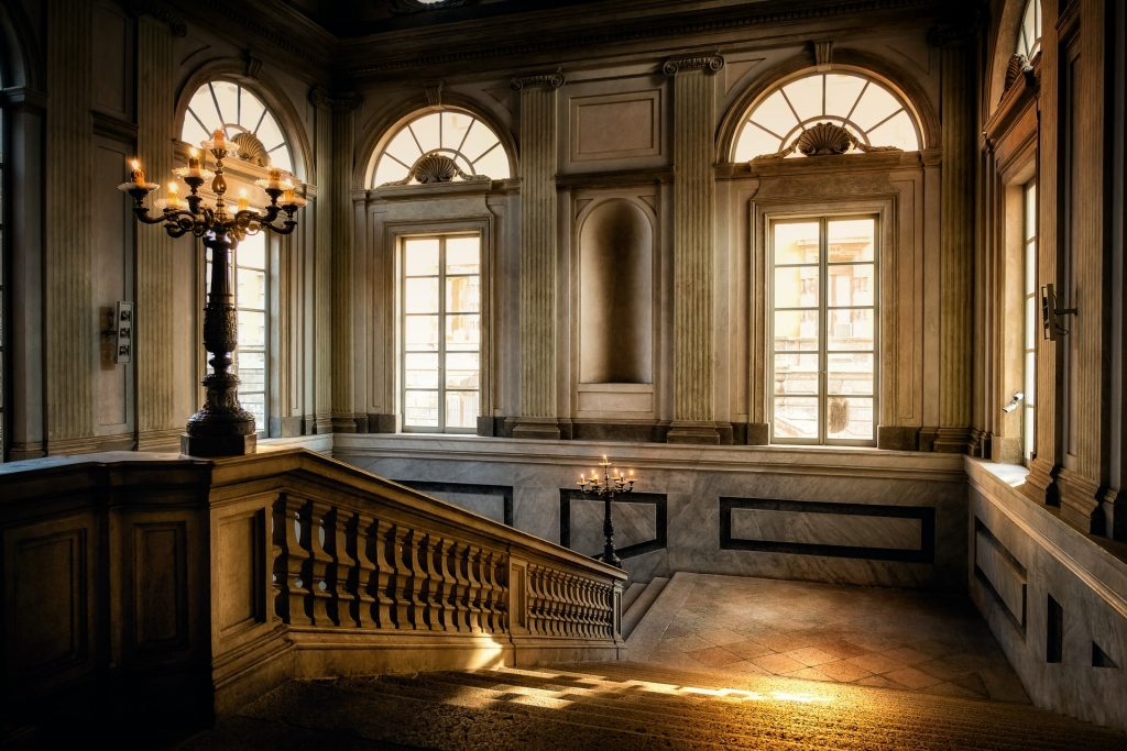 Stone Staircase Design in a Palace