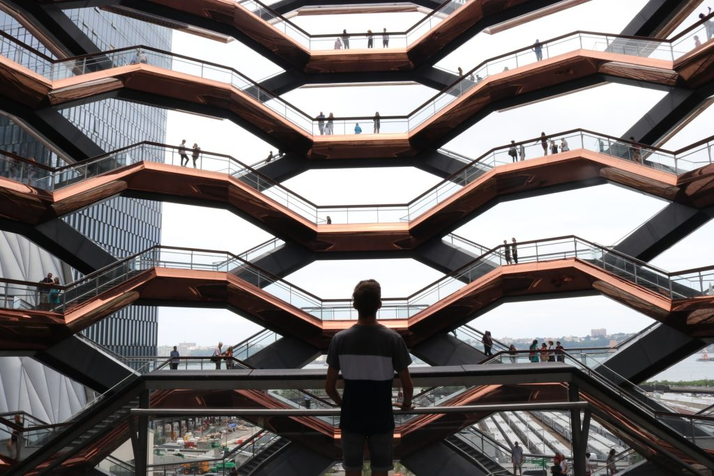 Honeycomb Stairways, Organic Architecture, The Vessel in New York. Image by Kai Dörner @photoversum / Unsplash.