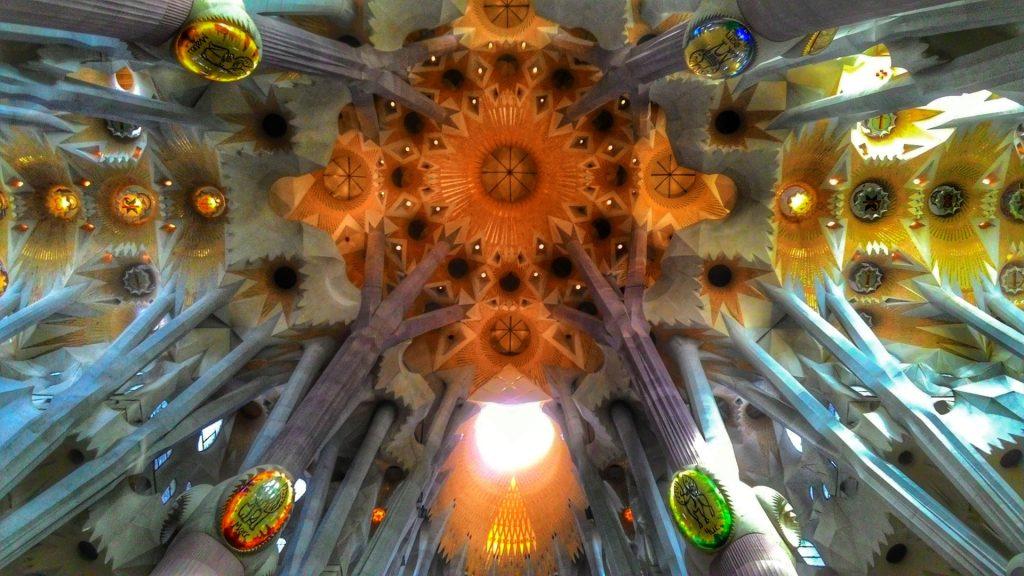 La Sagrada Familia, ceiling detail