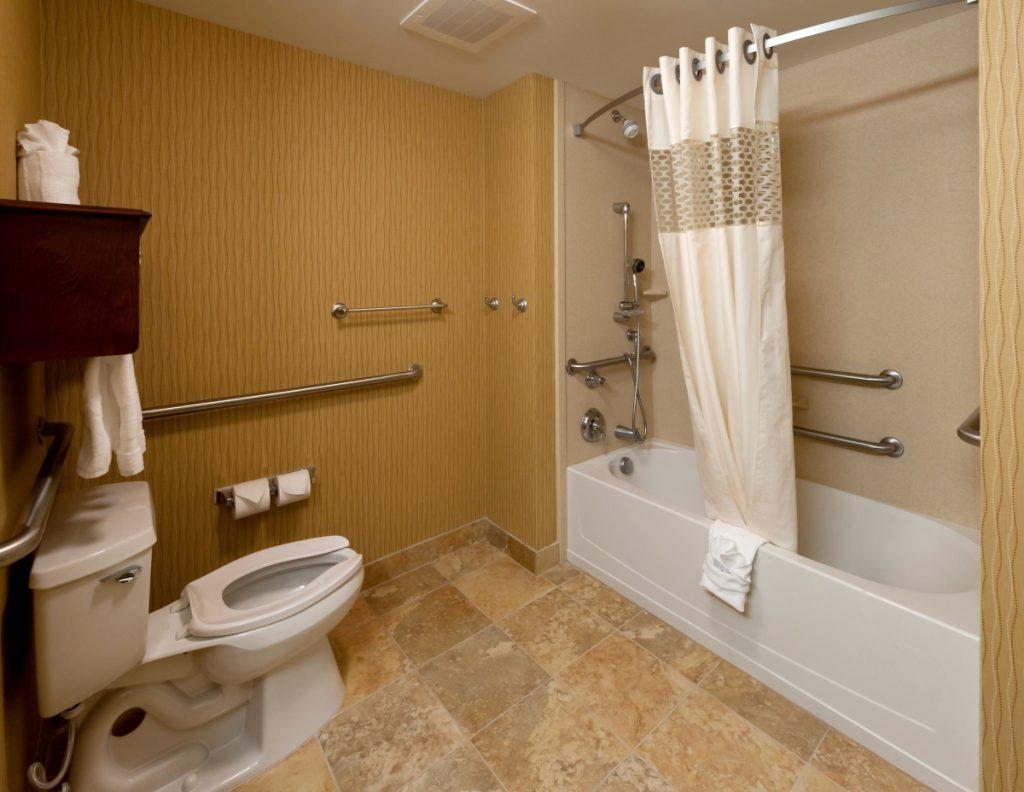 Age-friendly home, toilet grab bars