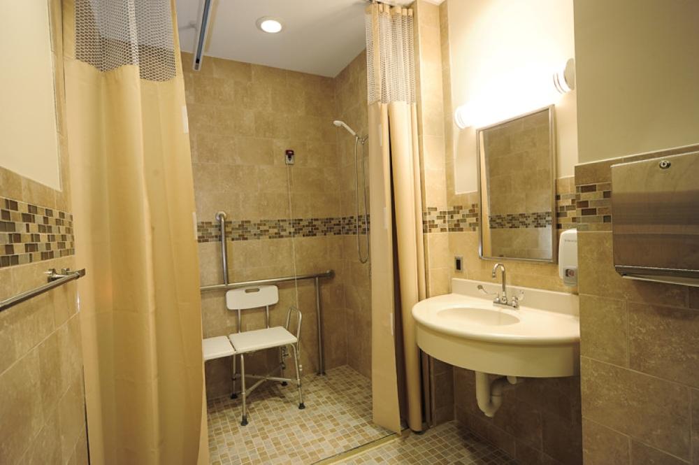 Age-friendly bathroom