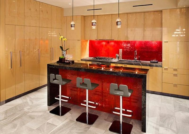 Valentine's Day Home Remodeling - Red Backsplash