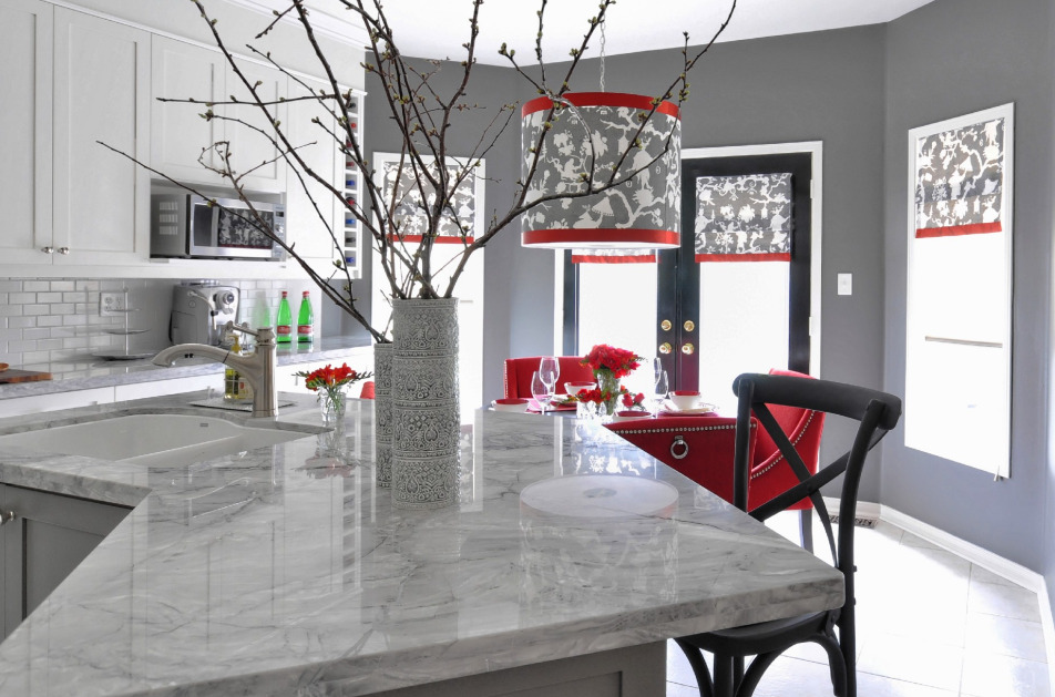 Valentine's Day Home Remodeling - Red accents