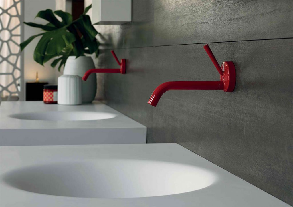Valentine's Day Home Remodeling - Red faucets