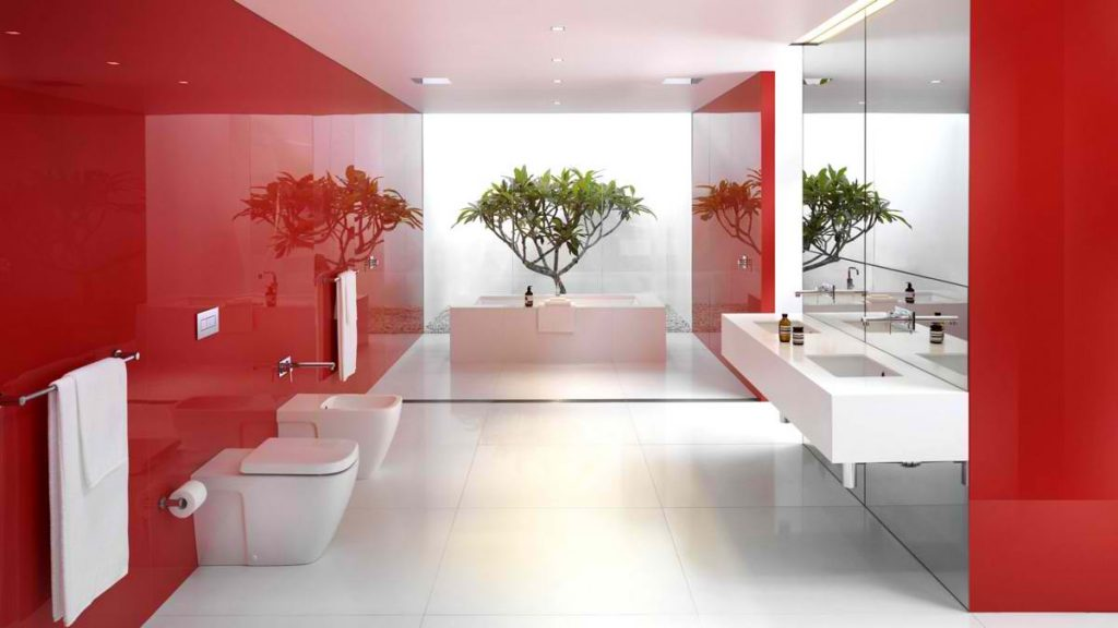 Valentine's Day Home Remodeling - Red walls